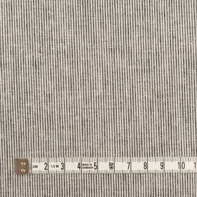 リネン&コットン×ストライプ(チャコール&エクリュ)×キャンバス_全2色 イメージ4