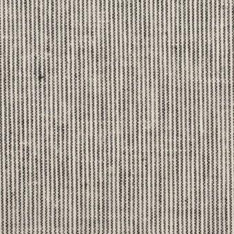リネン&コットン×ストライプ(チャコール&エクリュ)×キャンバス_全2色 サムネイル1
