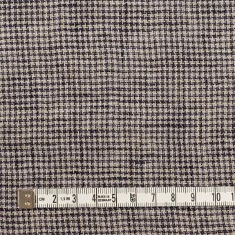 リネン×千鳥格子(グレイッシュベージュ&ネイビー)×薄キャンバス サムネイル4