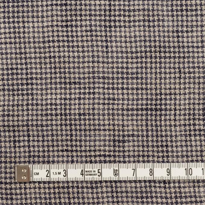 リネン×千鳥格子(グレイッシュベージュ&ネイビー)×薄キャンバス イメージ4