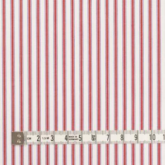 コットン×ストライプ(レッド)×ブロード サムネイル4