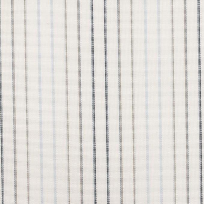 コットン×ストライプ(ペールブルー、グレー&チャコール)×ブロード イメージ1