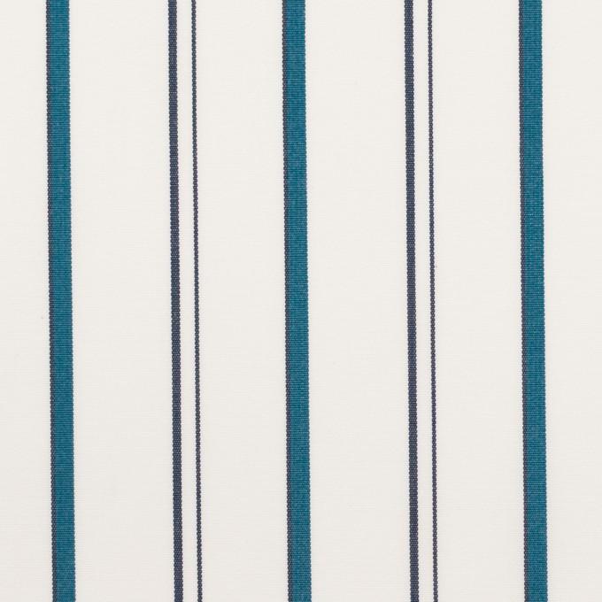 コットン×ストライプ(バルビゾンブルー)×ブロード イメージ1