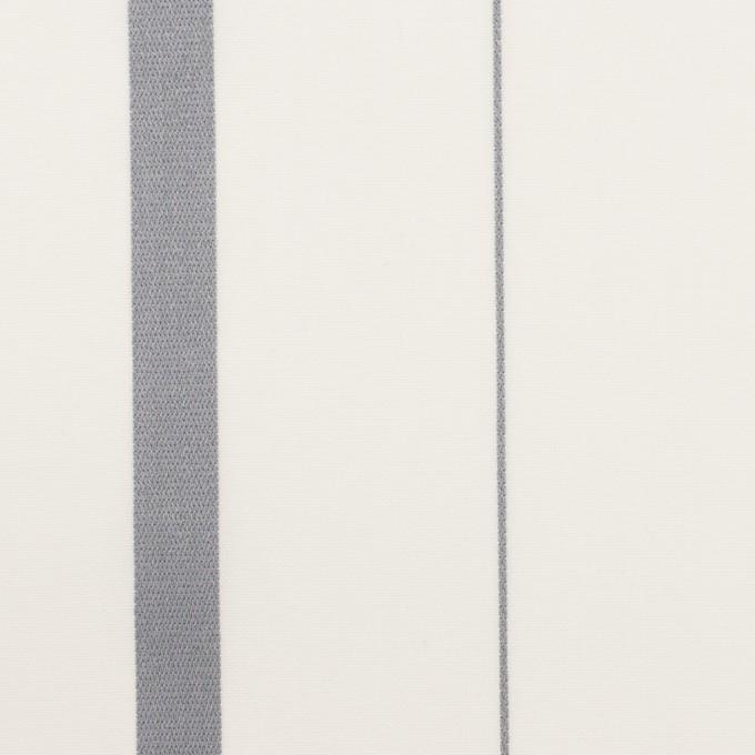 コットン×ストライプ(グレー)×ブロード・ジャガード イメージ1