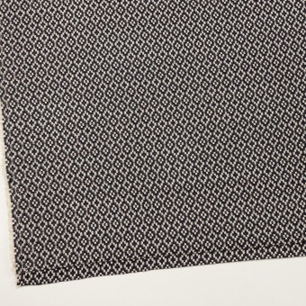 コットン&ポリエステル×幾何学模様(ブラック&エクリュ)×ジャガード サムネイル2