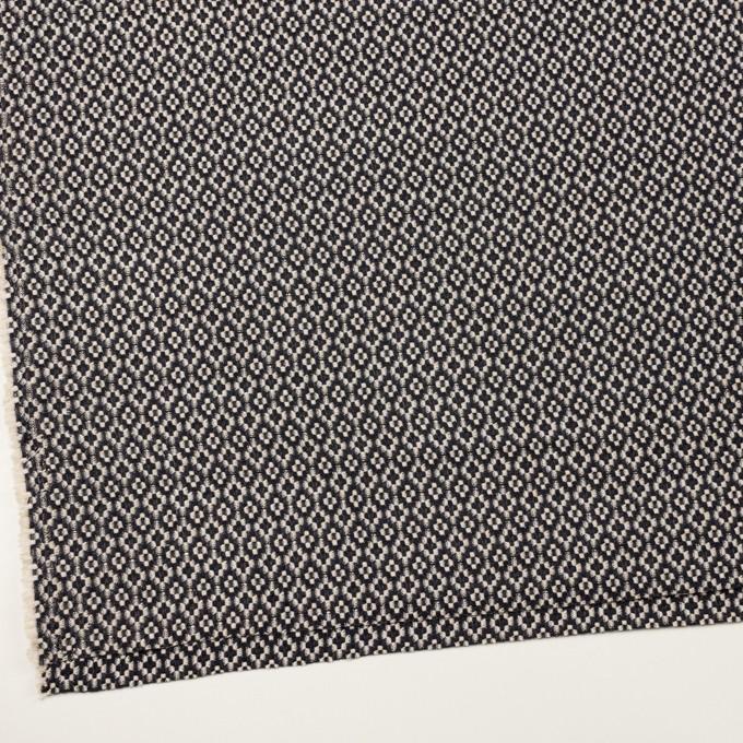 コットン&ポリエステル×幾何学模様(ブラック&エクリュ)×ジャガード イメージ2