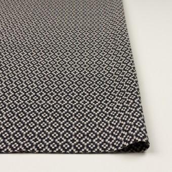 コットン&ポリエステル×幾何学模様(ブラック&エクリュ)×ジャガード サムネイル3