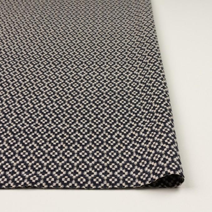 コットン&ポリエステル×幾何学模様(ブラック&エクリュ)×ジャガード イメージ3