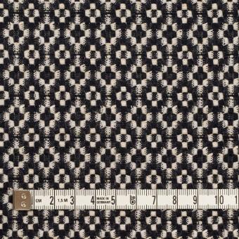 コットン&ポリエステル×幾何学模様(ブラック&エクリュ)×ジャガード サムネイル4