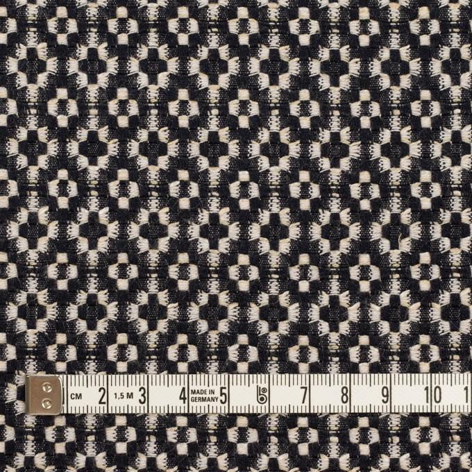 コットン&ポリエステル×幾何学模様(ブラック&エクリュ)×ジャガード イメージ4