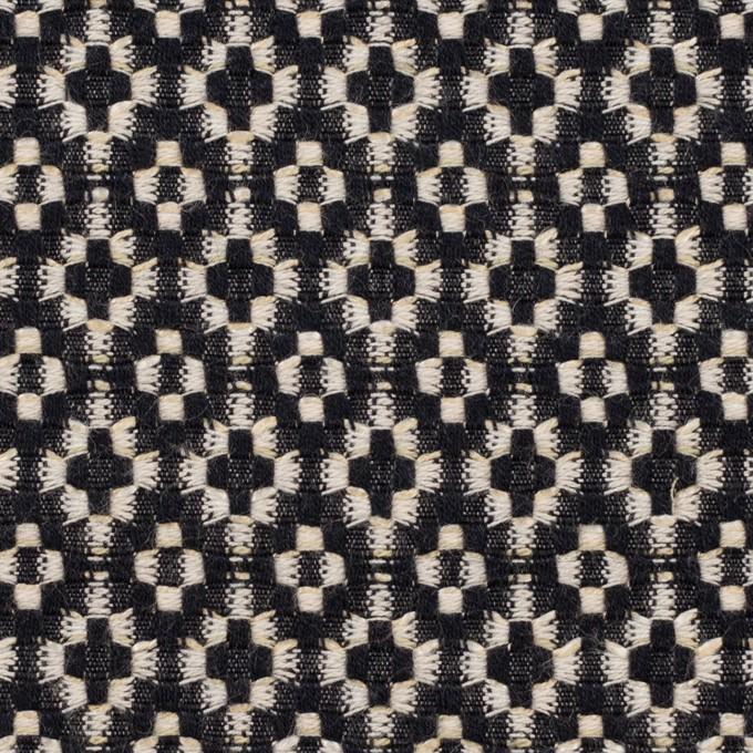 コットン&ポリエステル×幾何学模様(ブラック&エクリュ)×ジャガード イメージ1