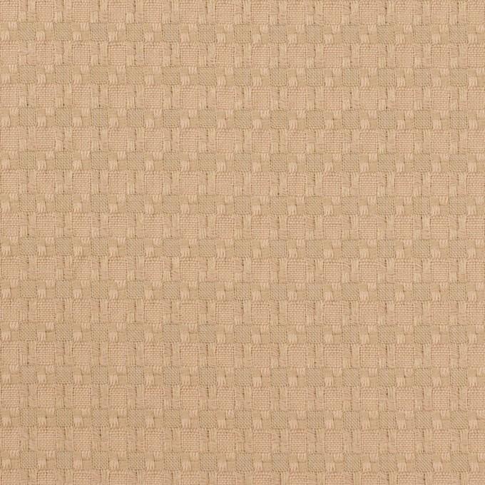 コットン&ポリエステル×スクエア(ベージュ)×ジャガード イメージ1