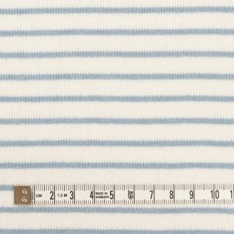 コットン×ボーダー(ミルク&スモークブルー)×天竺ニット_全3色 サムネイル4