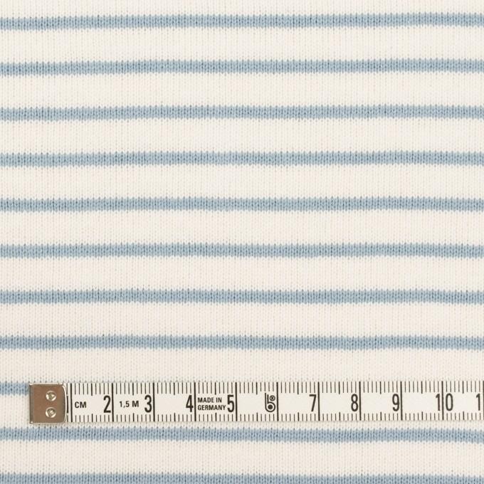 コットン×ボーダー(ミルク&スモークブルー)×天竺ニット_全3色 イメージ4