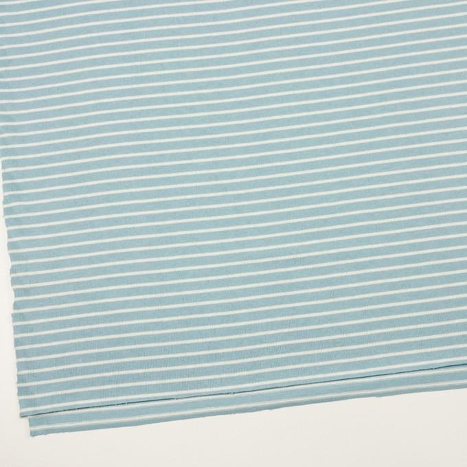 コットン×ボーダー(アクアグリーン&ミルク)×天竺ニット_全3色 イメージ2