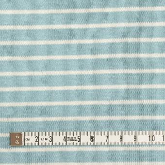 コットン×ボーダー(アクアグリーン&ミルク)×天竺ニット_全3色 サムネイル4