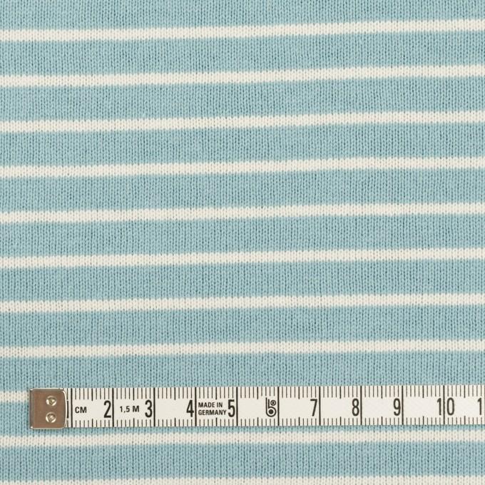 コットン×ボーダー(アクアグリーン&ミルク)×天竺ニット_全3色 イメージ4