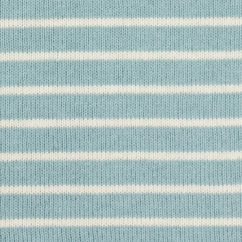コットン×ボーダー(アクアグリーン&ミルク)×天竺ニット_全3色 サムネイル1