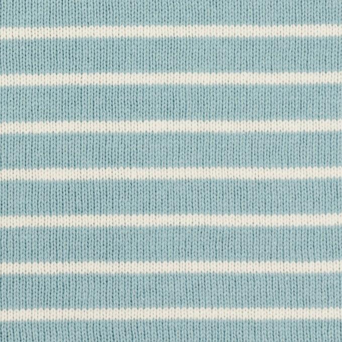 コットン×ボーダー(アクアグリーン&ミルク)×天竺ニット_全3色 イメージ1