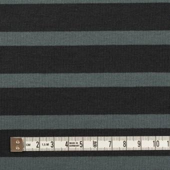 コットン×ボーダー(チャコール&スレートグレー)×天竺ニット_全2色 サムネイル4