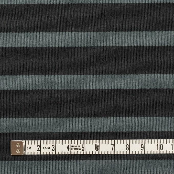 コットン×ボーダー(チャコール&スレートグレー)×天竺ニット_全2色 イメージ4