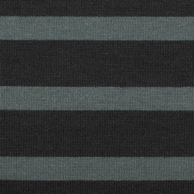 コットン×ボーダー(チャコール&スレートグレー)×天竺ニット_全2色 イメージ1