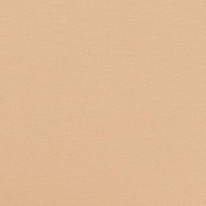 コットン&ポリウレタン×無地(ウォームベージュ)×サテンストレッチ イメージ1