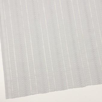 コットン×ストライプ(ストーングレー)×ローン刺繍 サムネイル2