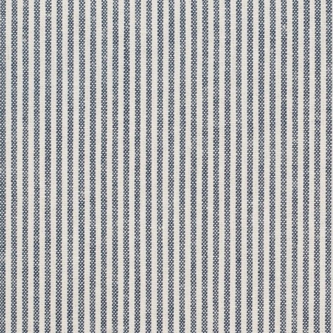 コットン&ポリエステル×ストライプ(アッシュネイビー)×シーチング イメージ1