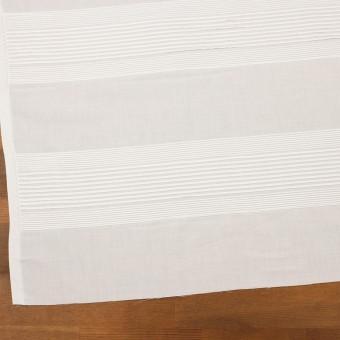 コットン×ボーダー(ホワイト)×ボイルピンタック サムネイル2