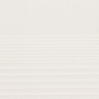 コットン×ボーダー(ホワイト)×ボイルピンタック