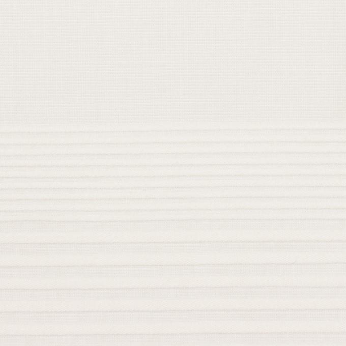 コットン×ボーダー(ホワイト)×ボイルピンタック イメージ1