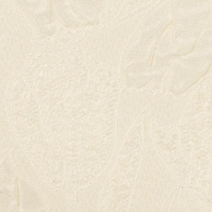 ポリエステル×フラワー(クリーム)×ジャガード_全2色 イメージ1