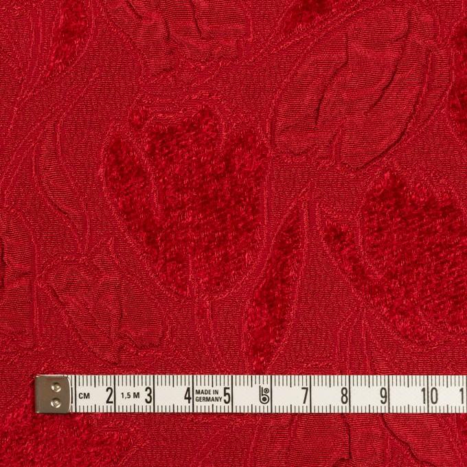 ポリエステル×フラワー(レッド)×ジャガード_全2色 イメージ4