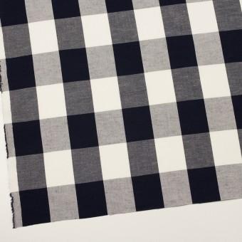 コットン&レーヨン×チェック(ダークネイビー&アイボリー)×キャンバス サムネイル2