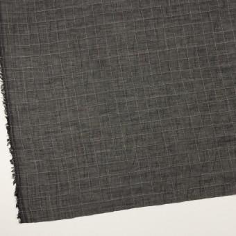 コットン&シルク混×チェック(ブラック)×オーガンジー・ワッシャー サムネイル2