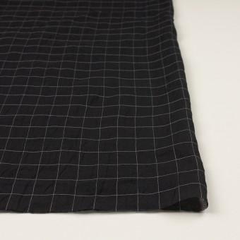 コットン&シルク混×チェック(ブラック)×オーガンジー・ワッシャー サムネイル3