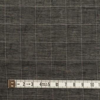 コットン&シルク混×チェック(ブラック)×オーガンジー・ワッシャー サムネイル4