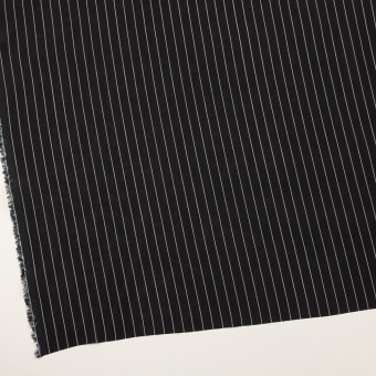 レーヨン&シルク×ストライプ(ブラック)×シフォン サムネイル2