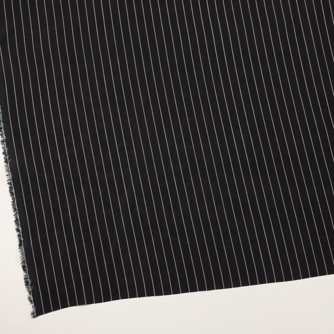 レーヨン&シルク×ストライプ(ブラック)×シフォン イメージ2