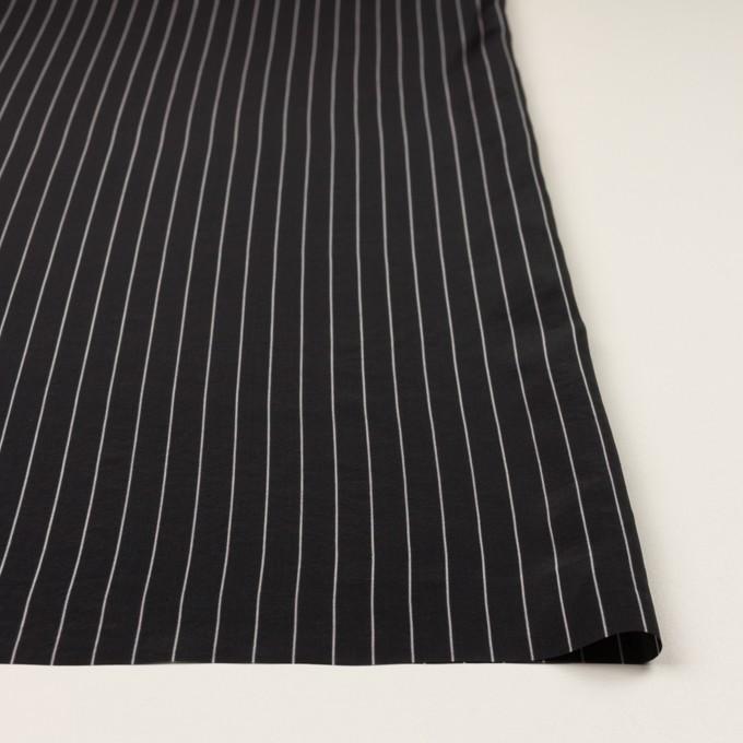 レーヨン&シルク×ストライプ(ブラック)×シフォン イメージ3