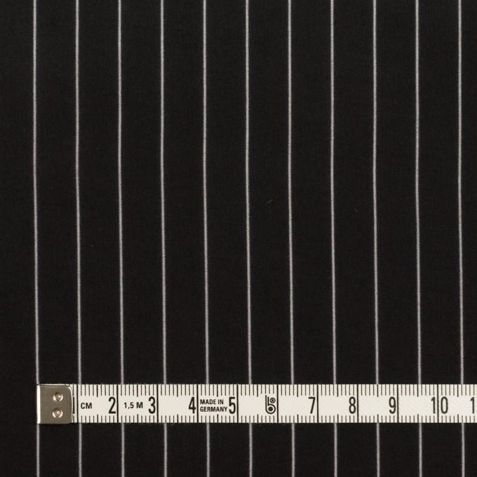 レーヨン&シルク×ストライプ(ブラック)×シフォン イメージ4