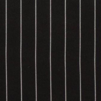 【130cmカット】レーヨン&シルク×ストライプ(ブラック)×シフォン
