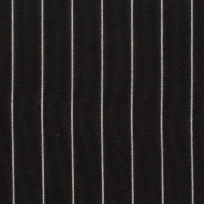 レーヨン&シルク×ストライプ(ブラック)×シフォン イメージ1