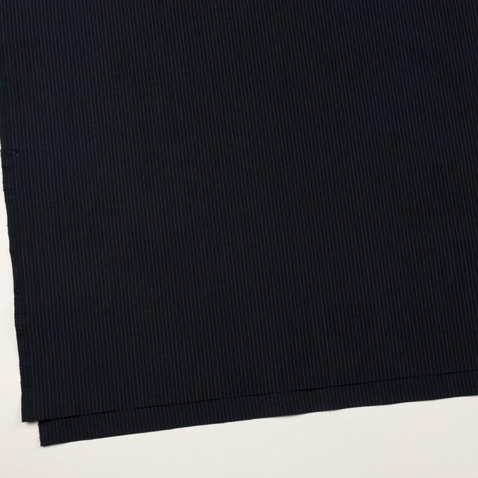 コットン&リヨセル×ストライプ(ダークネイビー)×高密ポプリン イメージ2