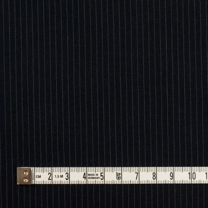 コットン&リヨセル×ストライプ(ダークネイビー)×高密ポプリン イメージ4