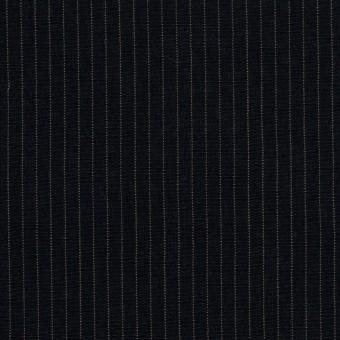 コットン&リヨセル×ストライプ(ダークネイビー)×高密ポプリン