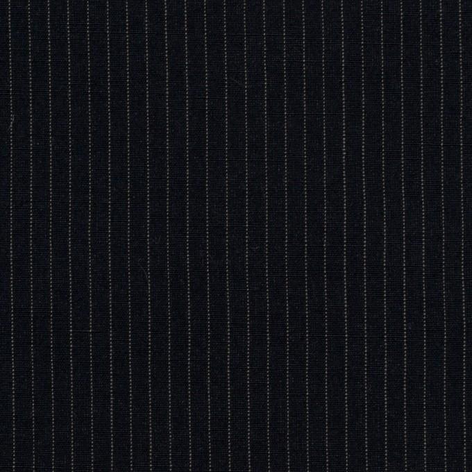 コットン&リヨセル×ストライプ(ダークネイビー)×高密ポプリン イメージ1