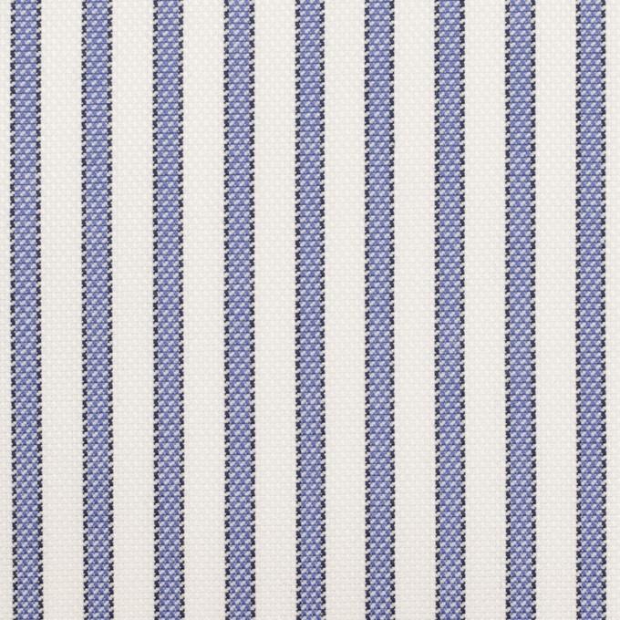 コットン×ストライプ(ラベンダーブルー)×オックスフォード イメージ1