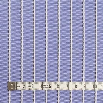 コットン×ストライプ(ラベンダーブルー)×オックスフォード サムネイル4